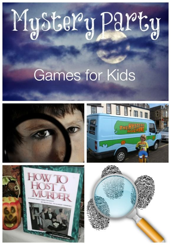 Mystery Party Games For Kids Mykidsguide Mystery Party Game Kids Party Games Mystery Parties