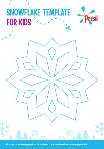 snowflake template for kids