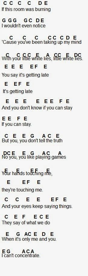 Flute Sheet Music Little White Lies By One Direction Flute Sheet