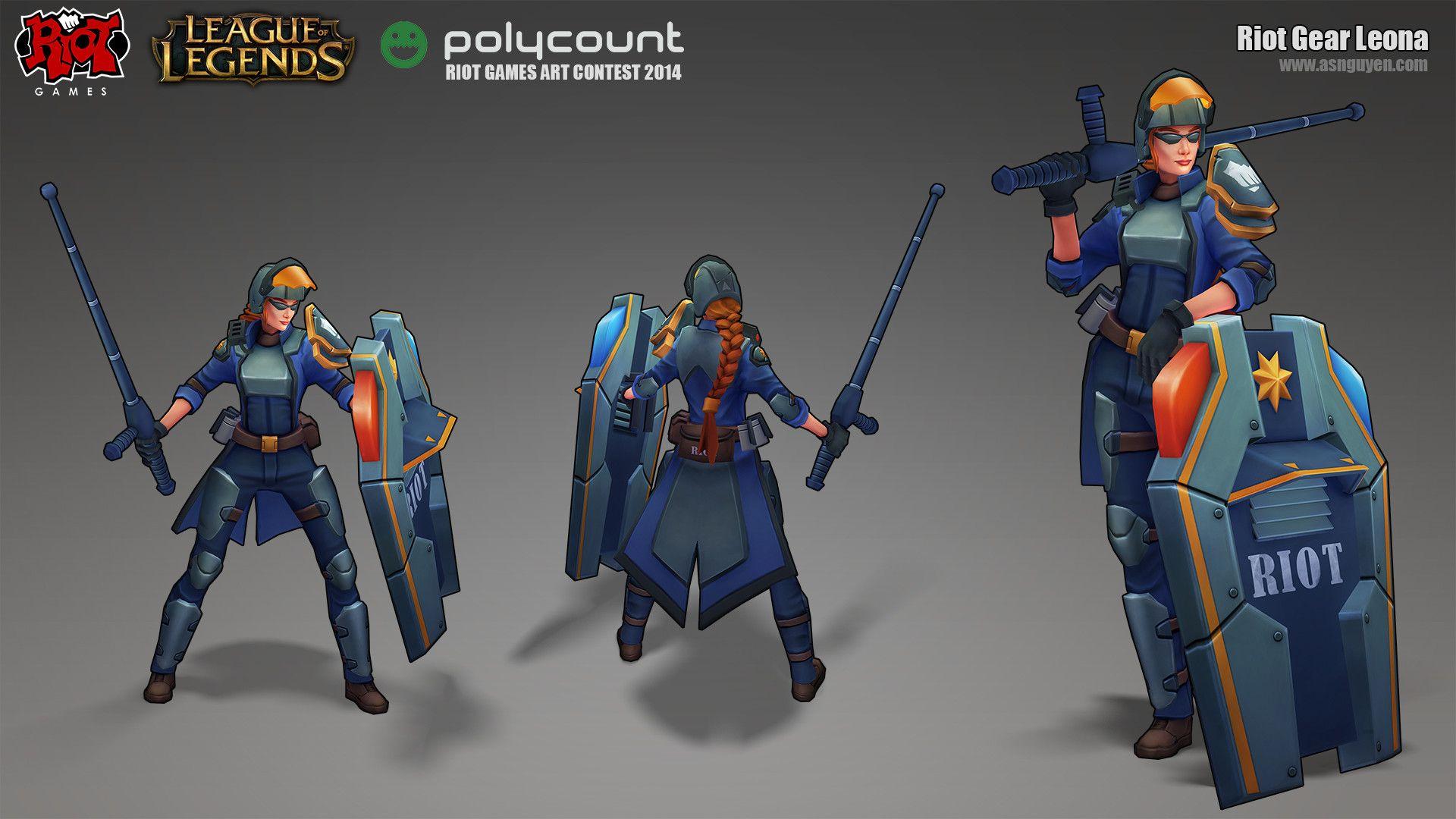 Riot Leona League Of Legends Skin Concept By Alex Nguyen League