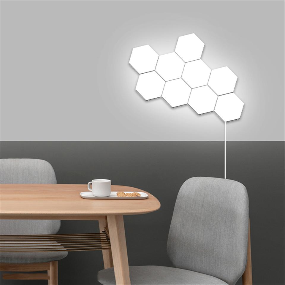 Nordic Hexagonal Sensitive Touch Interior Home Led Tiles Walllamp Walllight Interiorlighting Homelighting In 2020 Stair Wall Lights Wall Lights Wood Wall Lamps