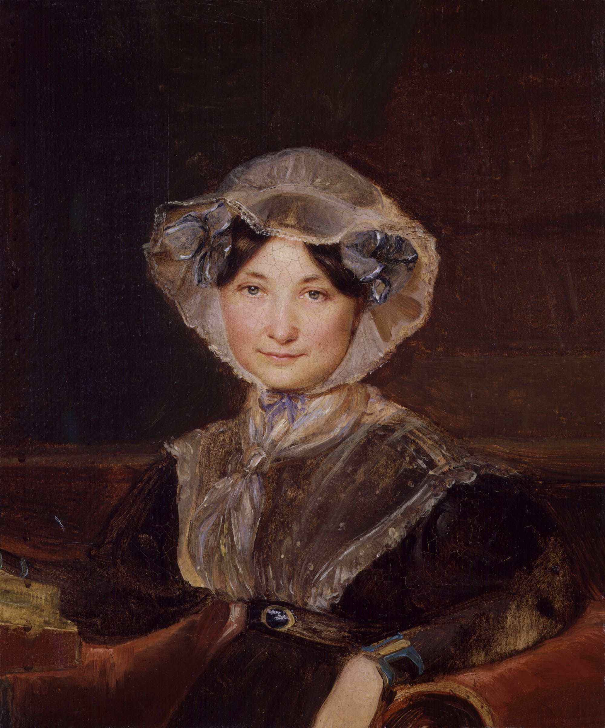 Portrait of Frances Trollope (Anthony Trollope's mother) by Auguste Hervieu (French 1794–1858)