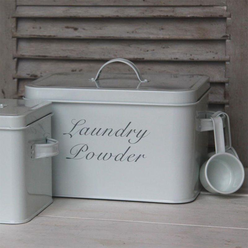 Vintage Waschpulverbox Laundry Powder Weiss Klein Metallbox Fur Waschpulver Laundry Powder Laundry Washing Powder
