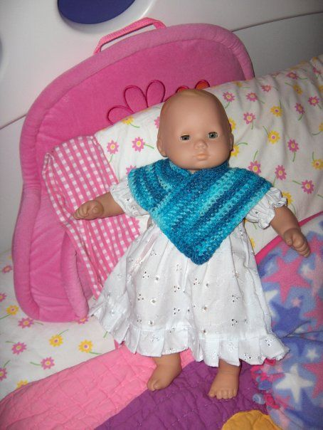 Crochet poncho for Bitty Baby