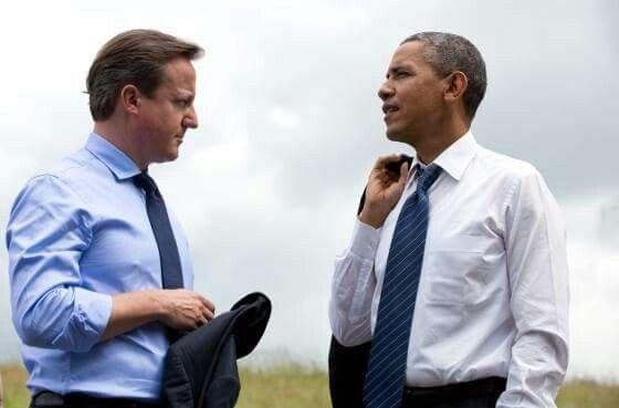 President Barack Obama meets with British Prime Minister David Cameron