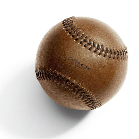 Leather baseball from Coach's The Baseball Heritage Collection.