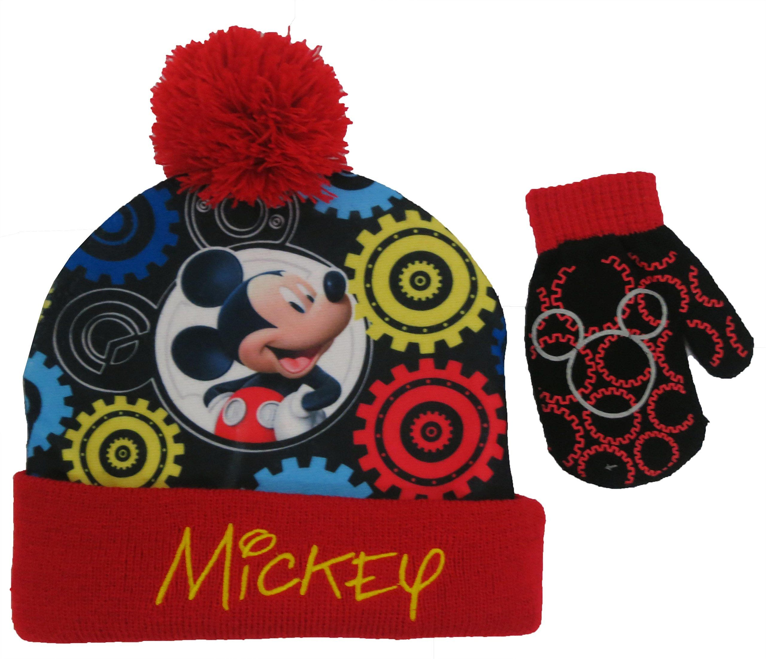 c93a575052a Disney Mickey Mouse Clubhouse Boys Hat and Mitten Set - Toddler  4013 .  Wear Your Favorite Disney Mickey Mouse Clubhouse Character On Your Hands  and Head To ...