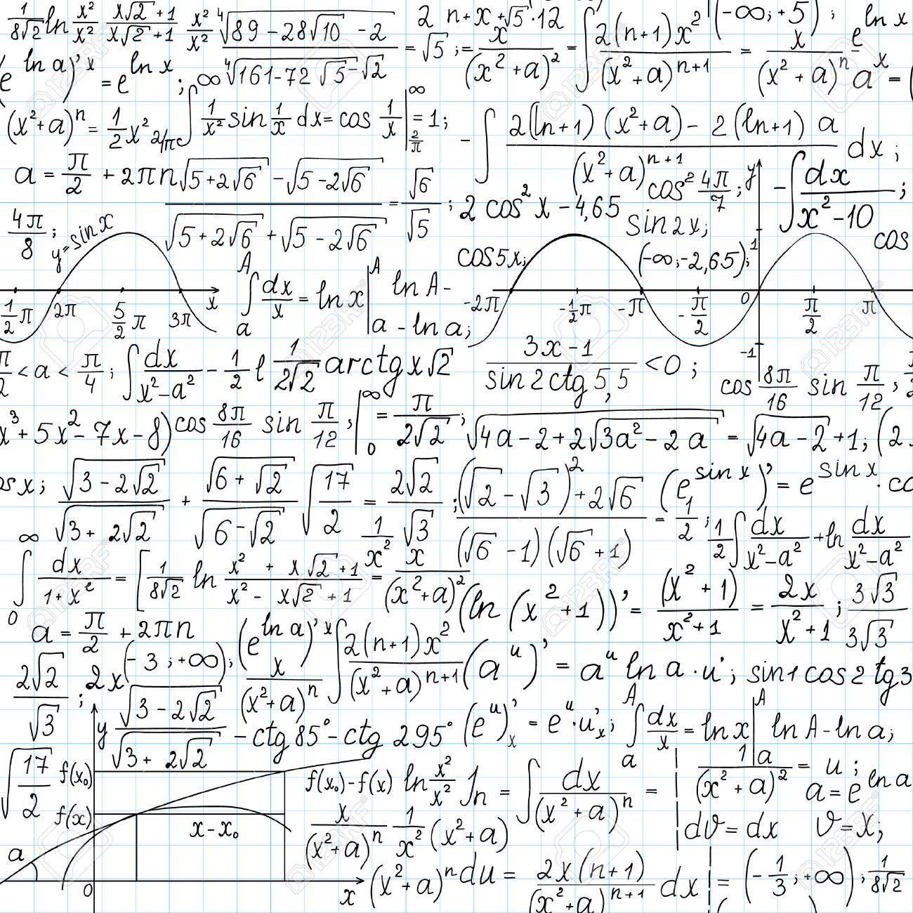 25118297Mathematicalvectorseamlesspatternhandwritten