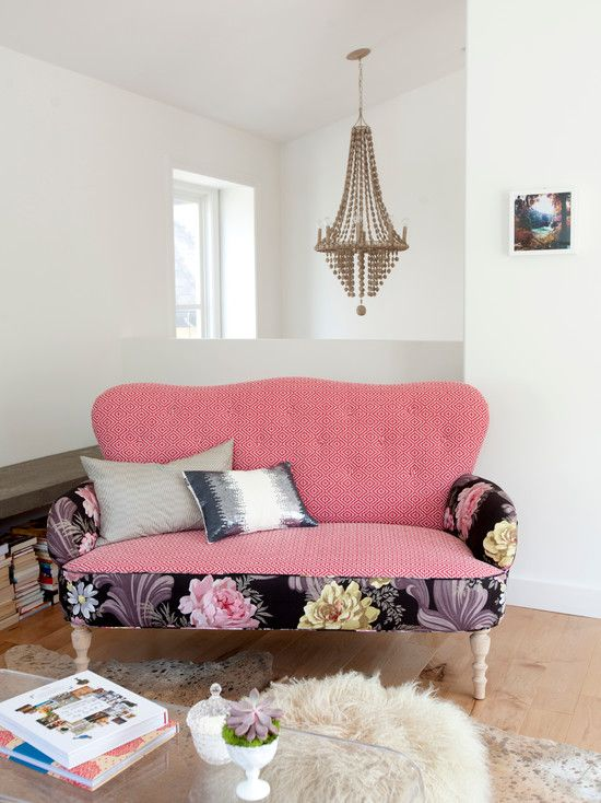 Pastel Pink Loveseat | Furniture I love! | Pinterest | Pink sofa ...