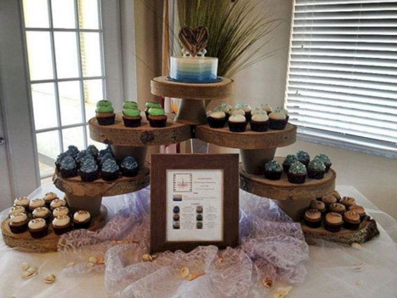 Best 20 Rustic Cupcake Display For Wedding Cake Inspirations
