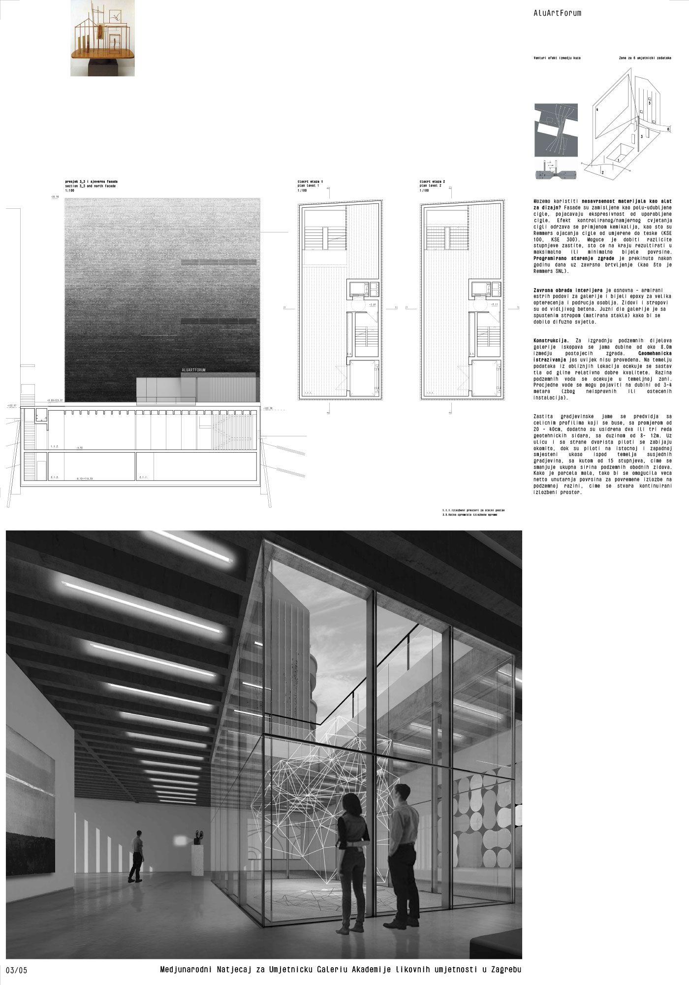 Njiric Arhitekti Aluartforum Art Gallery Art Academy Architecture Board