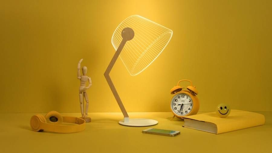 New 3d Optical Illusion Lamps By Studio Cheha 3d Led Lamp Lamp Optical Illusions