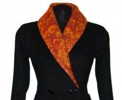 Воротник шалька в пиджаке
