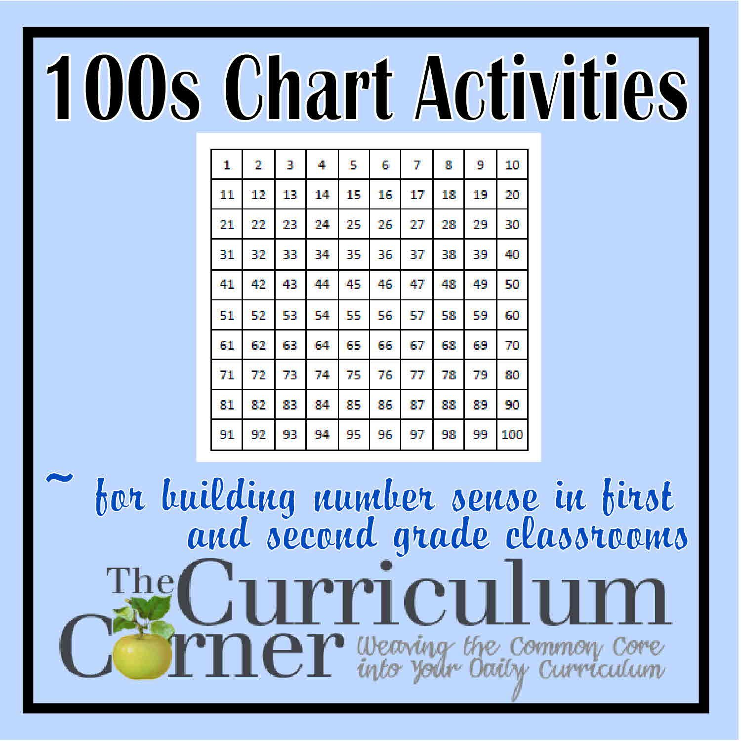 Free Printable Math 100s Chart Activities Use These 100s