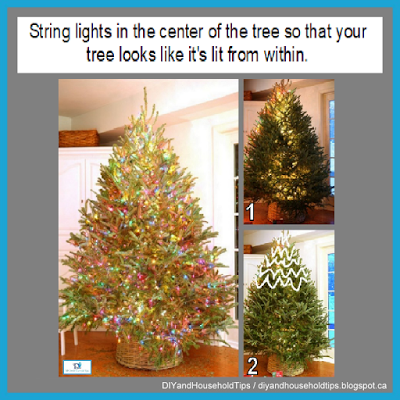 Diy And Household Tips Christmas Tree Lighting Tip Hacks