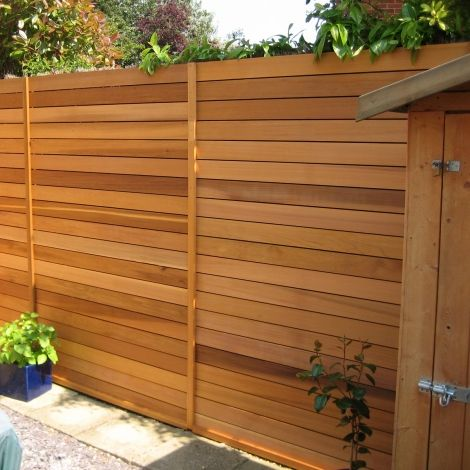 Cedar Slatted Fence Panel 19x90mm Fence Fence Panels Slatted Fence Panels Backyard Fences