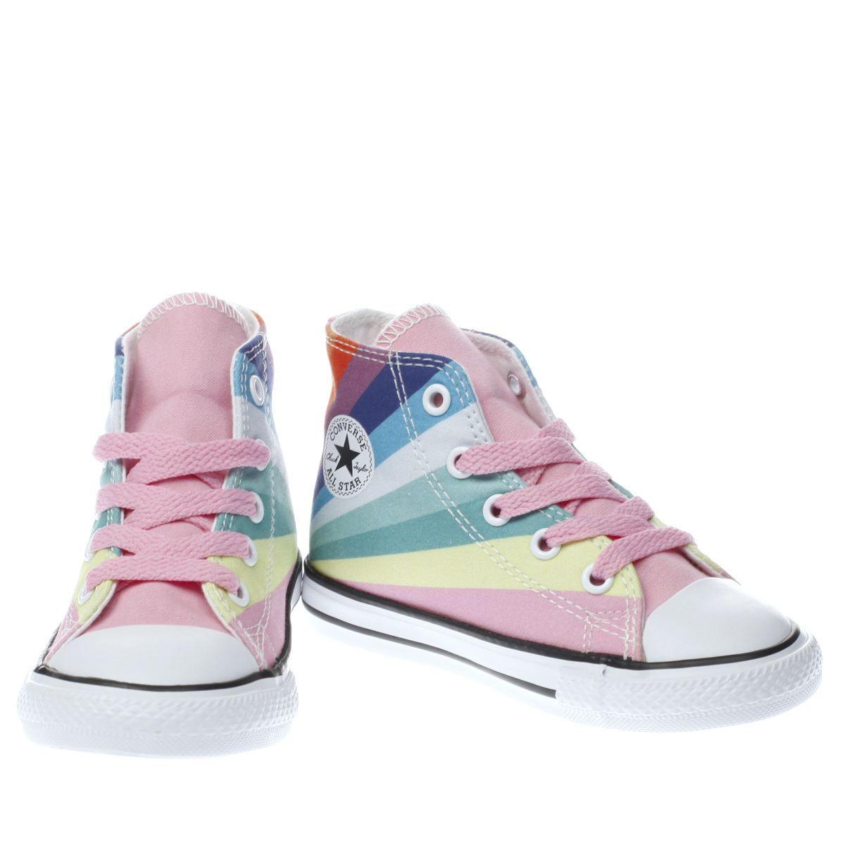4b10fcd4081 kids converse pink all star ox rainbow girls toddler