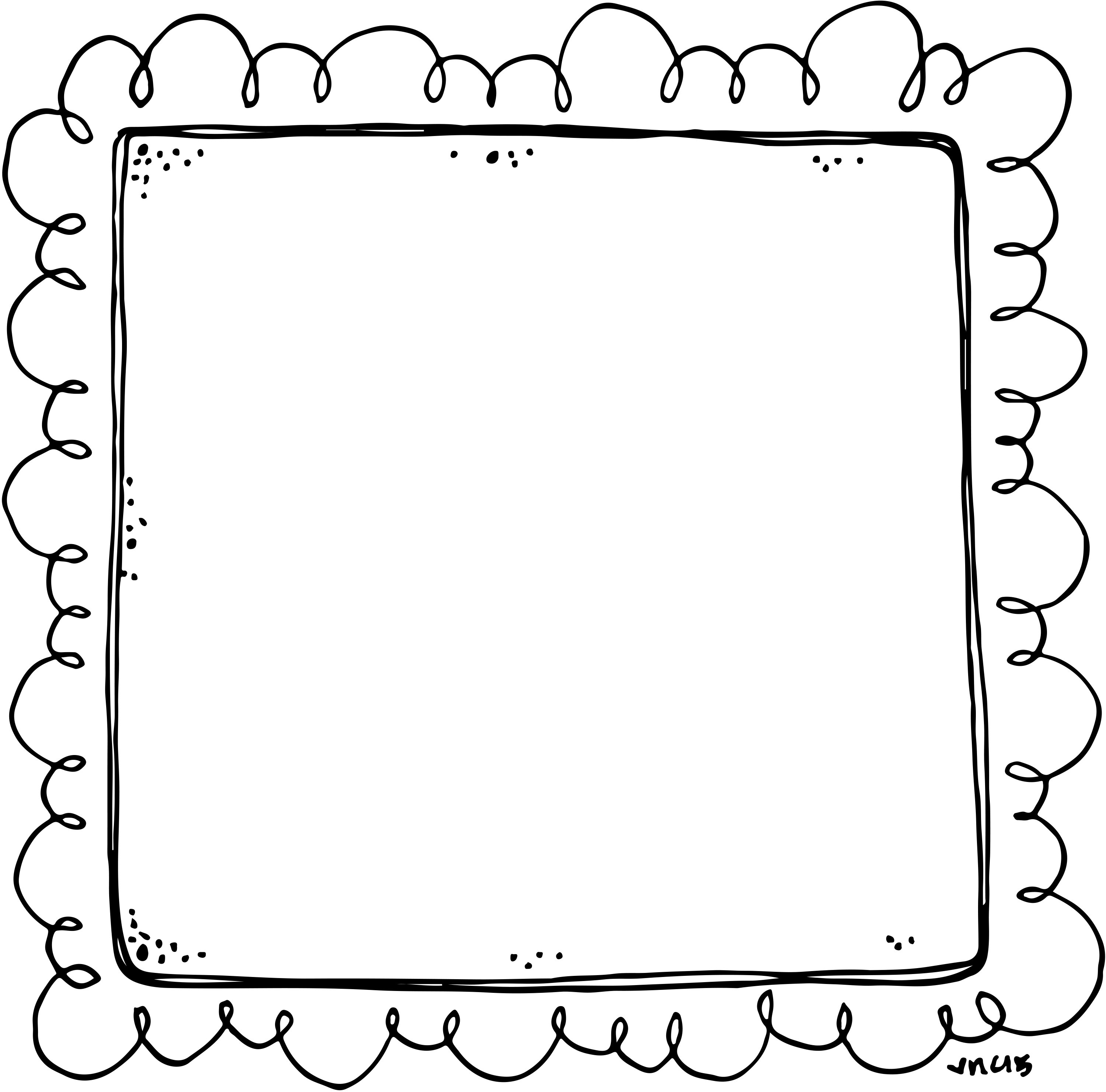 border or frame for newsletters announcements black