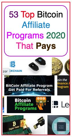 Best cryptocurrency affiliate programs 2020