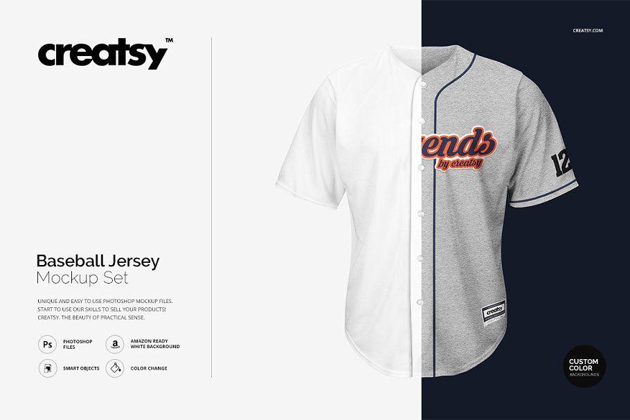 Download Baseball Jersey Mockup Set Clothing Mockup Mockup Baseball Jerseys