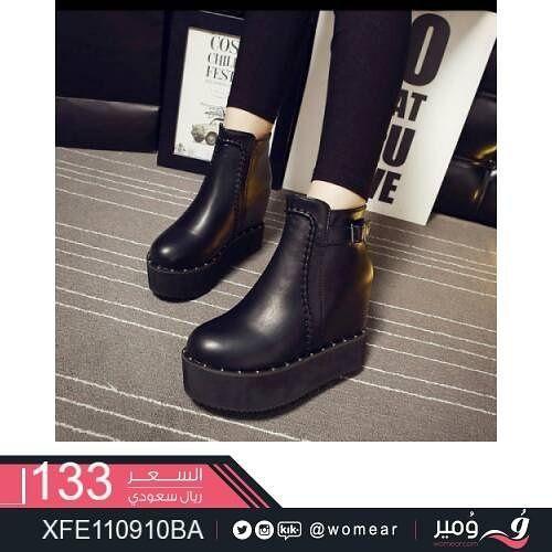 اذا كنتي من محبي الاحذية الجلدية فهذا المنتج يخصك حذاء احذيه جلد اسود مريح عملي اناقه تسوقي كعب منخفض أحذية كعب مخفي موضة Shoes Clogs Fashion