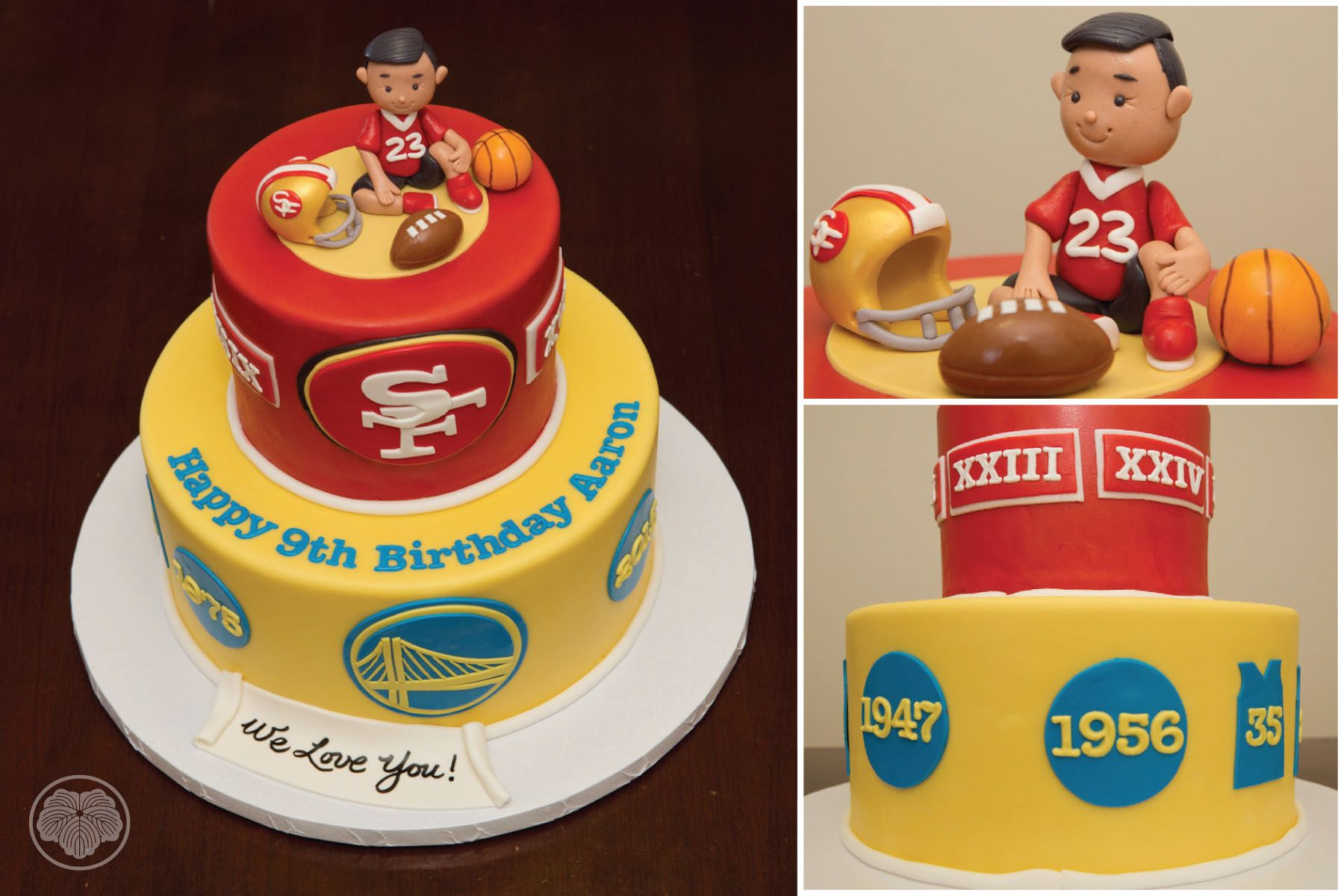 San Francisco 49er and Golden State Warriors cake. | Custom Cakes ...