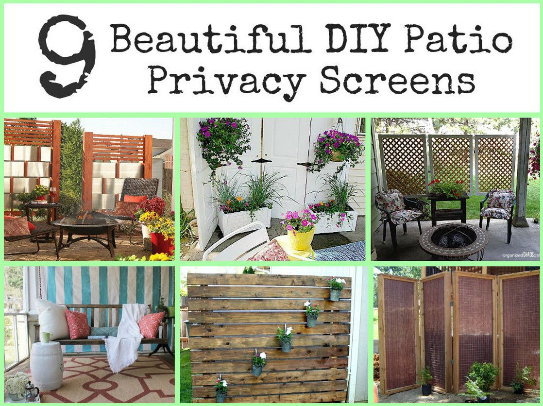 Diy outdoor privacy screen interesting ideas for home for Backyard patio privacy ideas