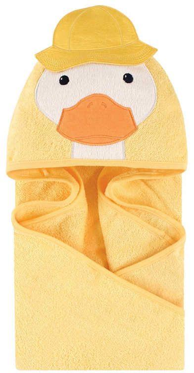 100 /% PURE COTTON Baby Hooded Bath towel  ORANGE PENGUIN