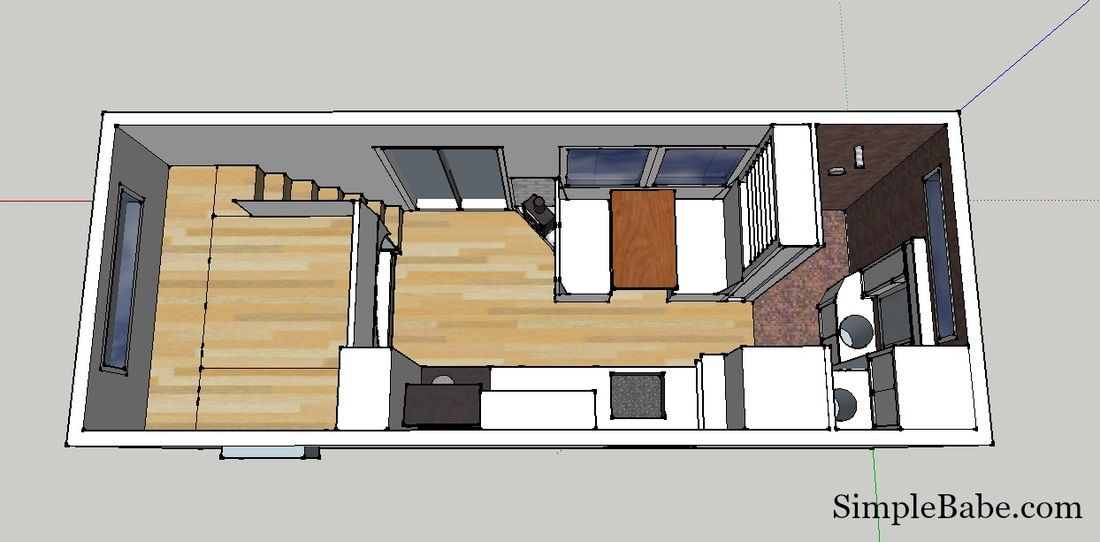 Take a tour 200 sq ft tiny home floor plan design by for 200 square foot cabin plans