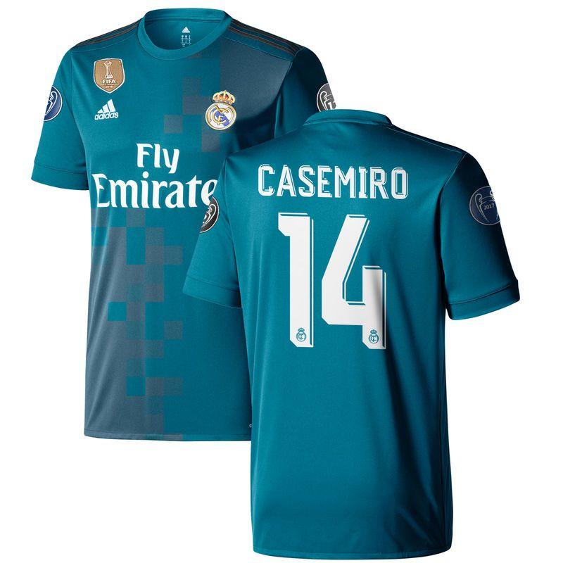 Carlos Casemiro Real Madrid adidas 2017/18 Third Replica Jersey ...