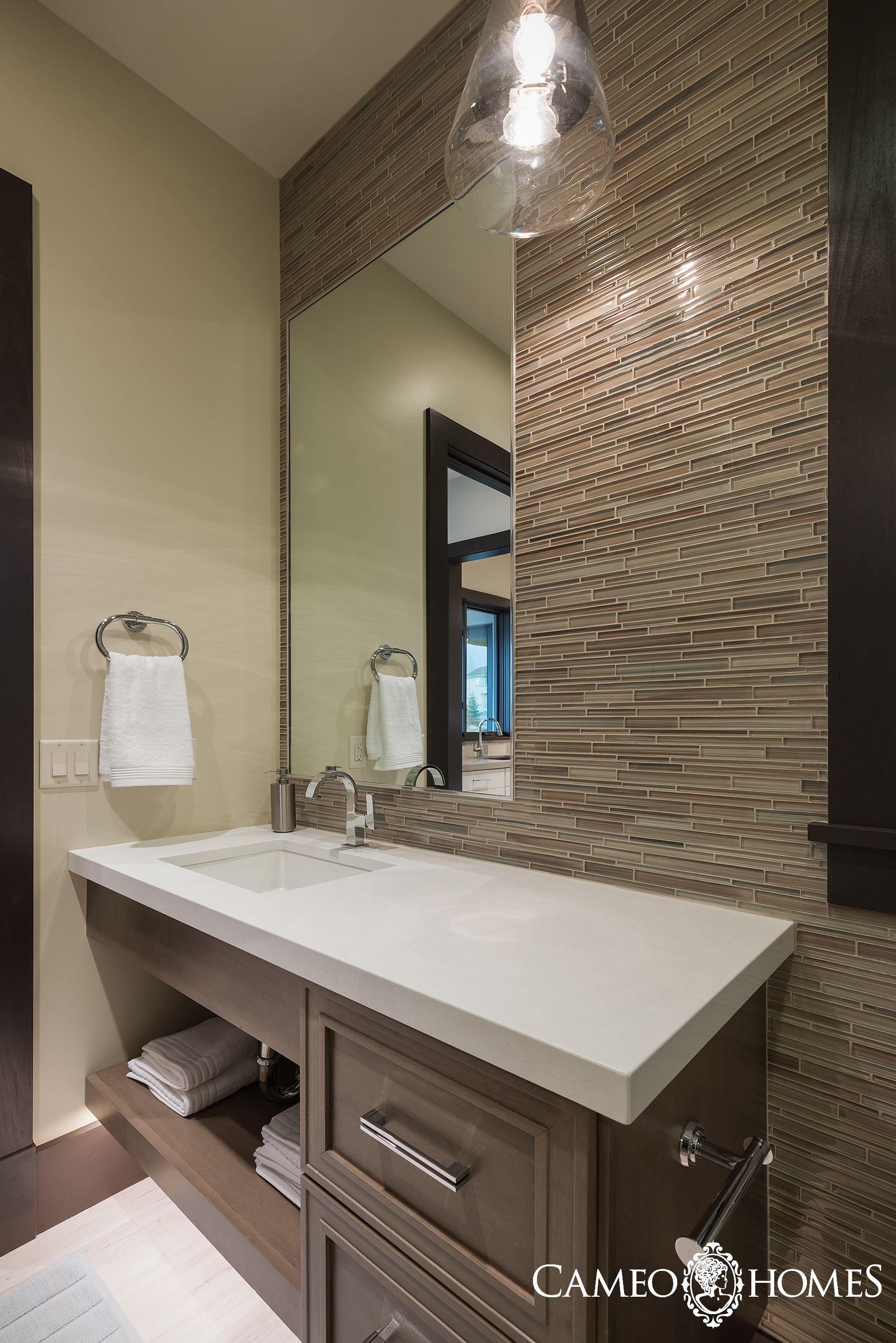 Powder Bathroom in Utah by Cameo Homes Inc. Summit County ...