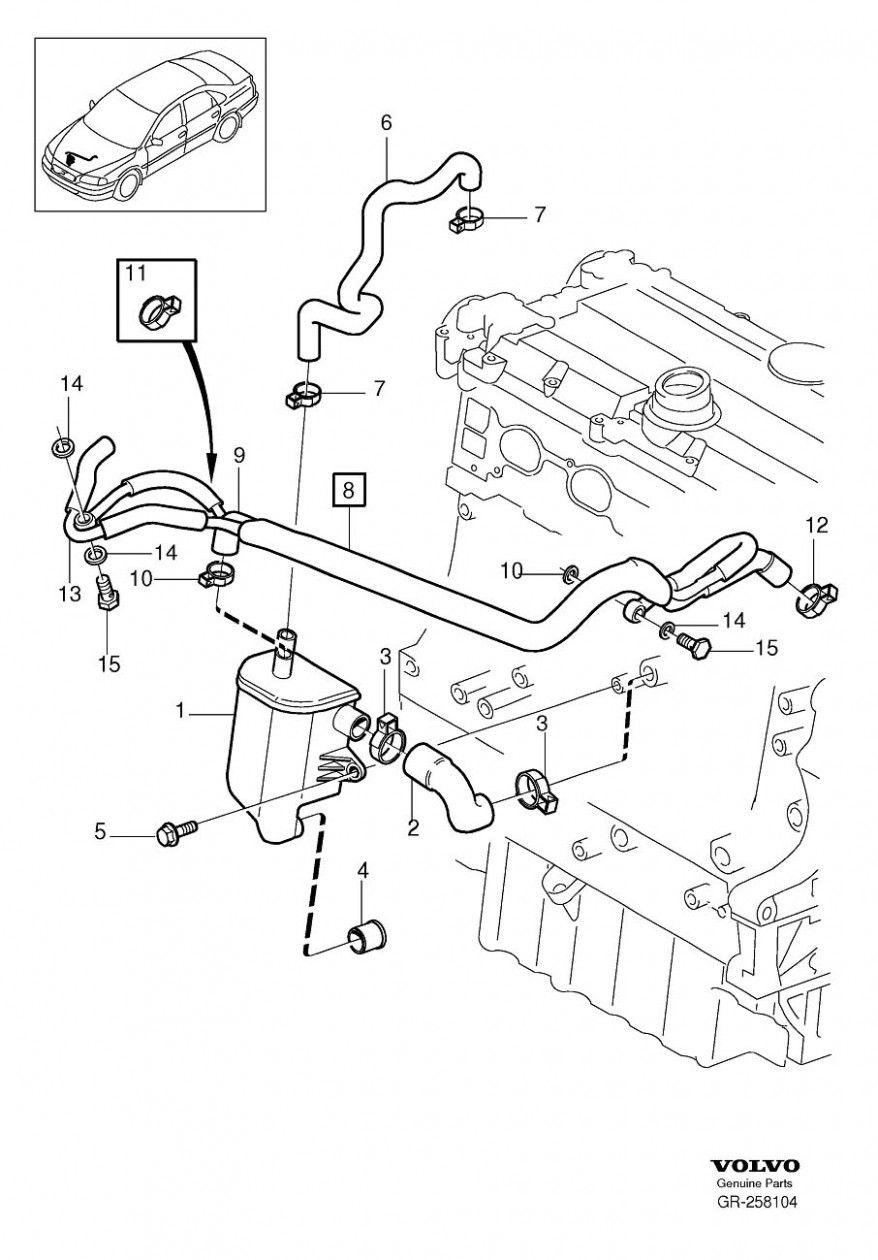 Pin di Wiring Diagram | Volvo V40 Engine Diagram |  | Pinterest