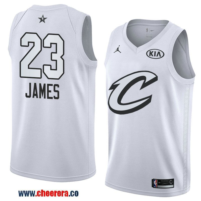 3580d72fd men s western conference cleveland cavaliers  23 lebron james white 2018  nba all-star jersey