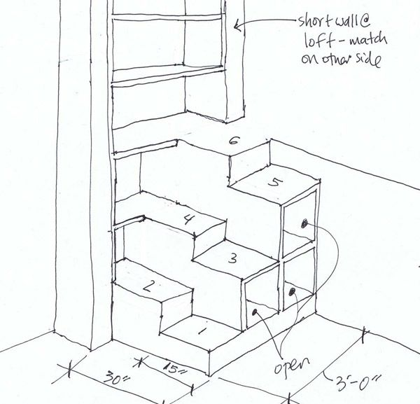 Alternating Tread Stairs To Loft   Google Search