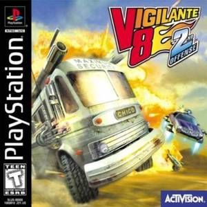 complete vigilante 8 ps1 game プレイステーション