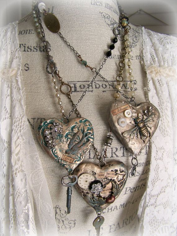Handmade mixed media jewelry altered necklace vintage bee necklace handmade mixed media jewelry altered necklace vintage by queenbe aloadofball Gallery