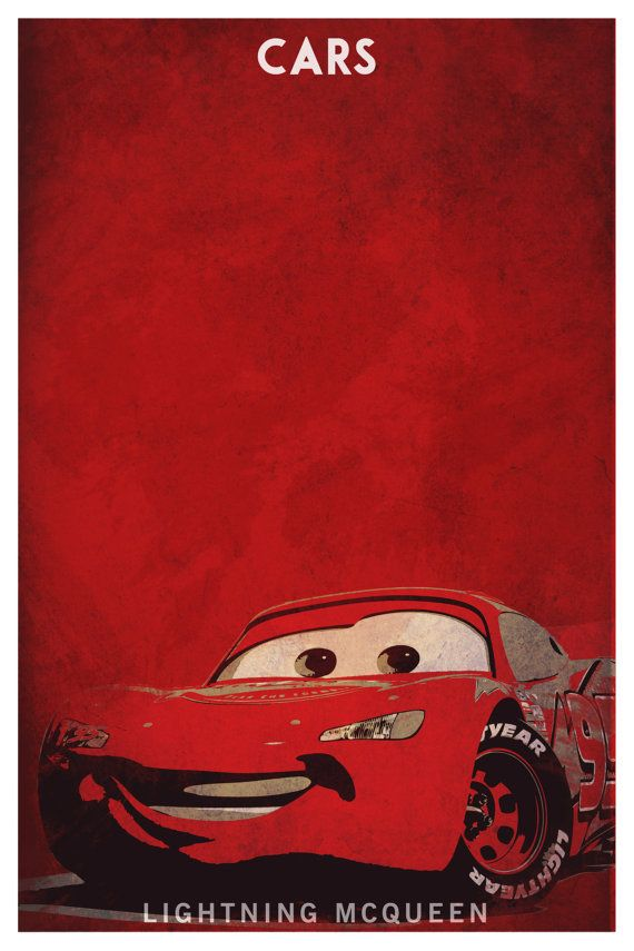 Disney Pixar Cars Custom Poster Print Set Of 2 By Spacebardesigns