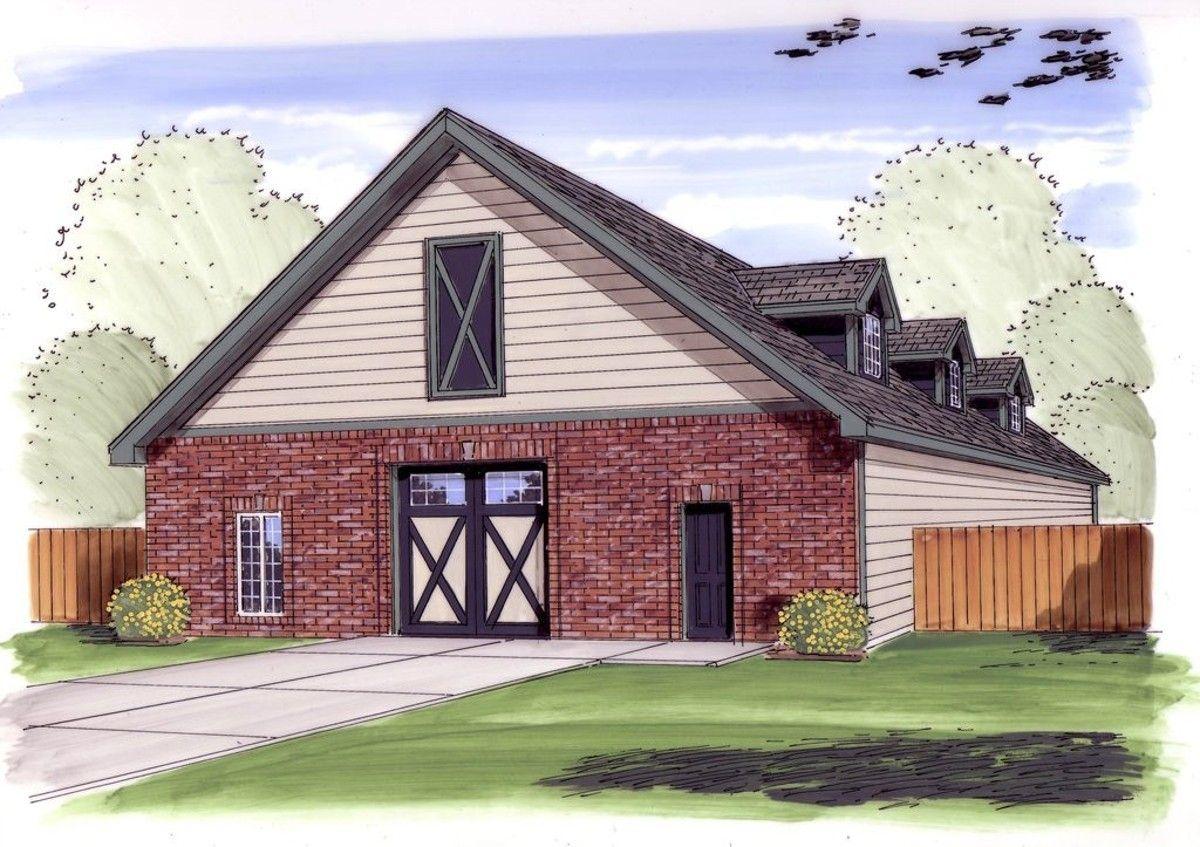 Plan 62618DJ Traditional DriveThrough Garage Plan