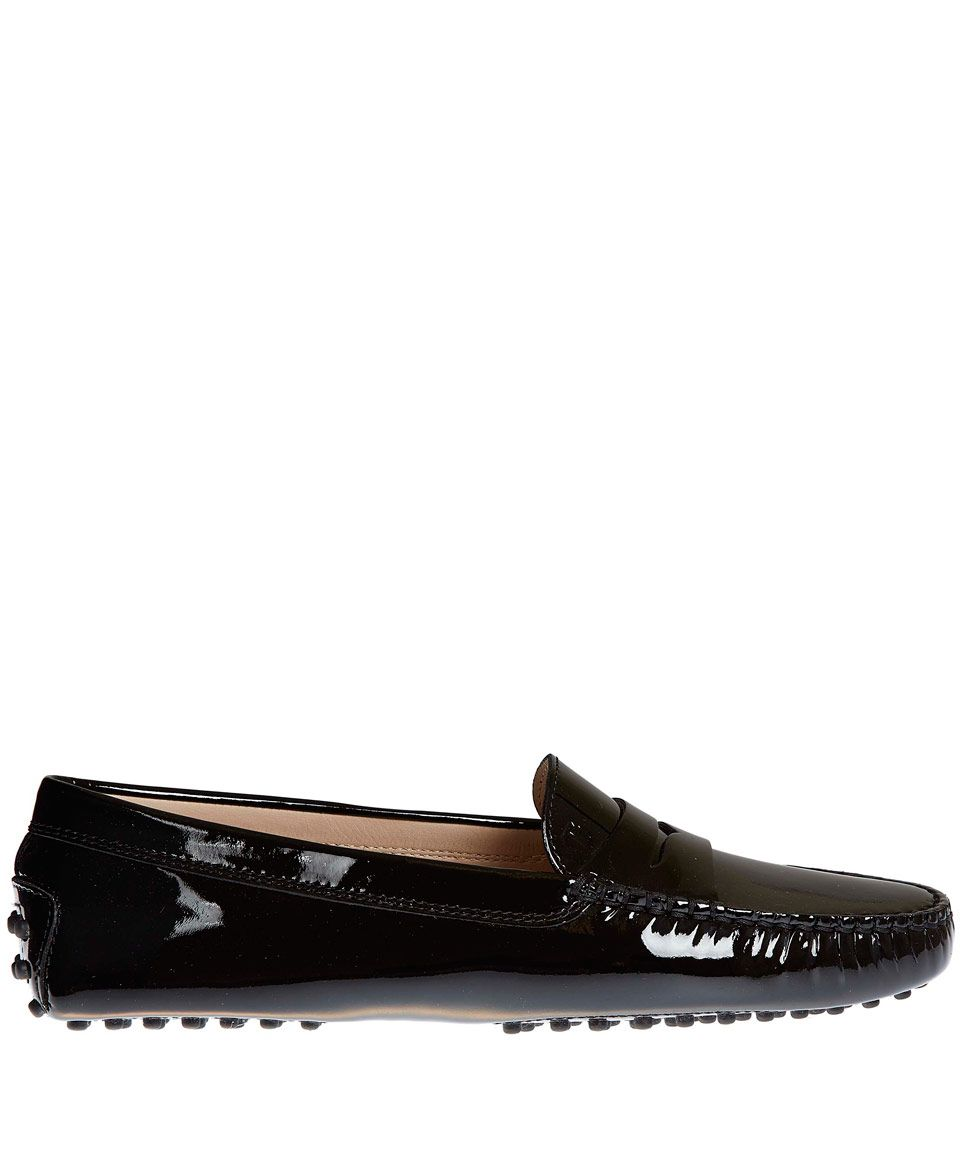 12278e5878d Tod s Black Mocassino Gommino Patent Driving Loafers