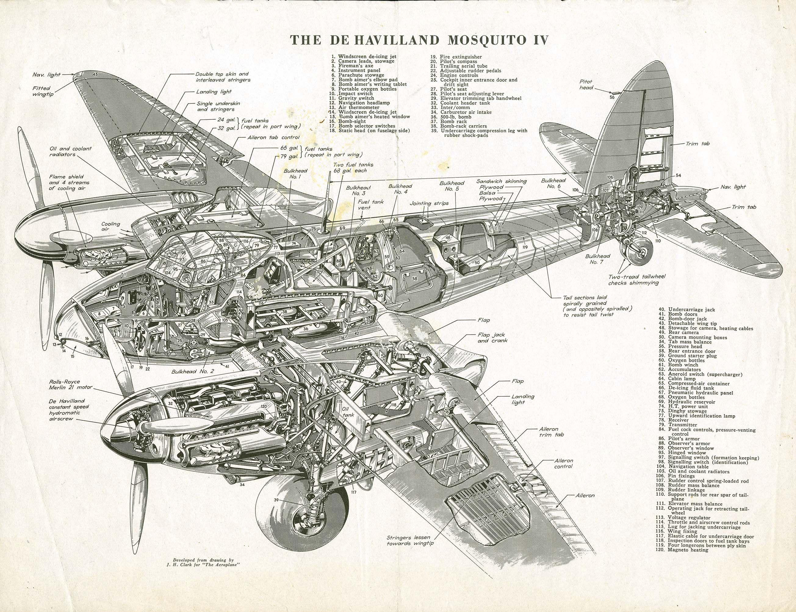 General Aviation Scale Diagram Ford Falcon Au Stereo Wiring The De Havilland Mosquito V История авиации 5