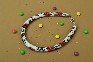 Beaded-handmade-authors-interesting-cord-beautiful-necklace-in-Ukrainian-style