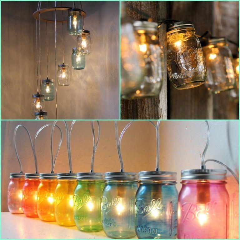 Marvelous Mason Jars Used As Lighting Great Ideas