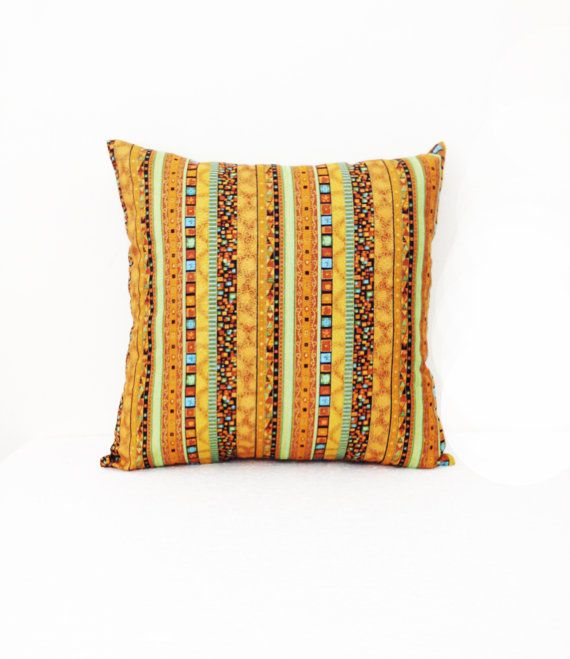 Ethnic Cushion Cover Pillow Case Cotton Fabric by HomemadeThailand