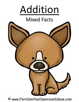Quick and Easy Center and Printables - Addition Mixed Facts - Puppy Themed #TPT $Paid