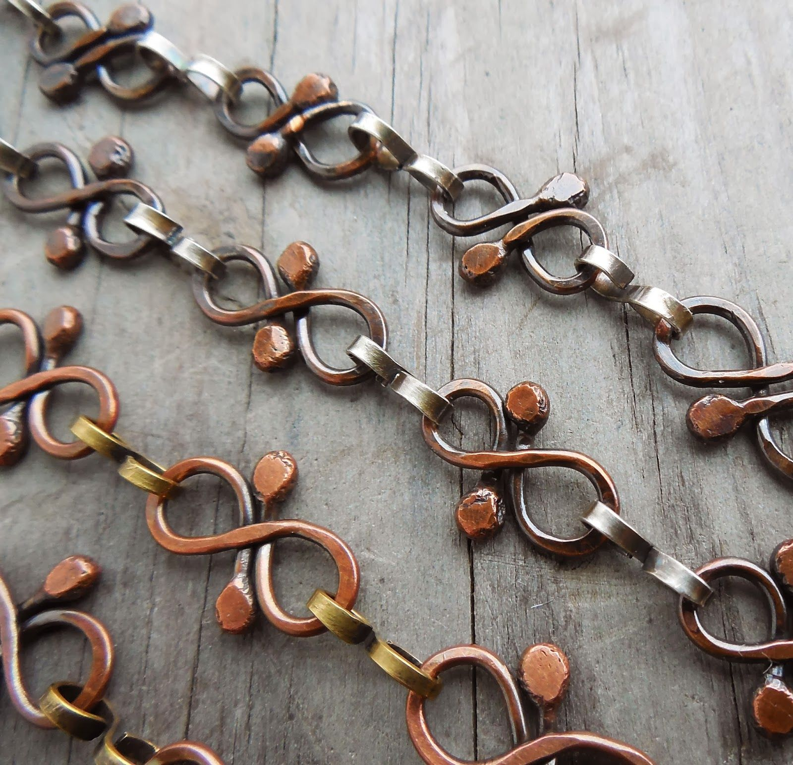 Fun with chain and no soldering art jewelry elements