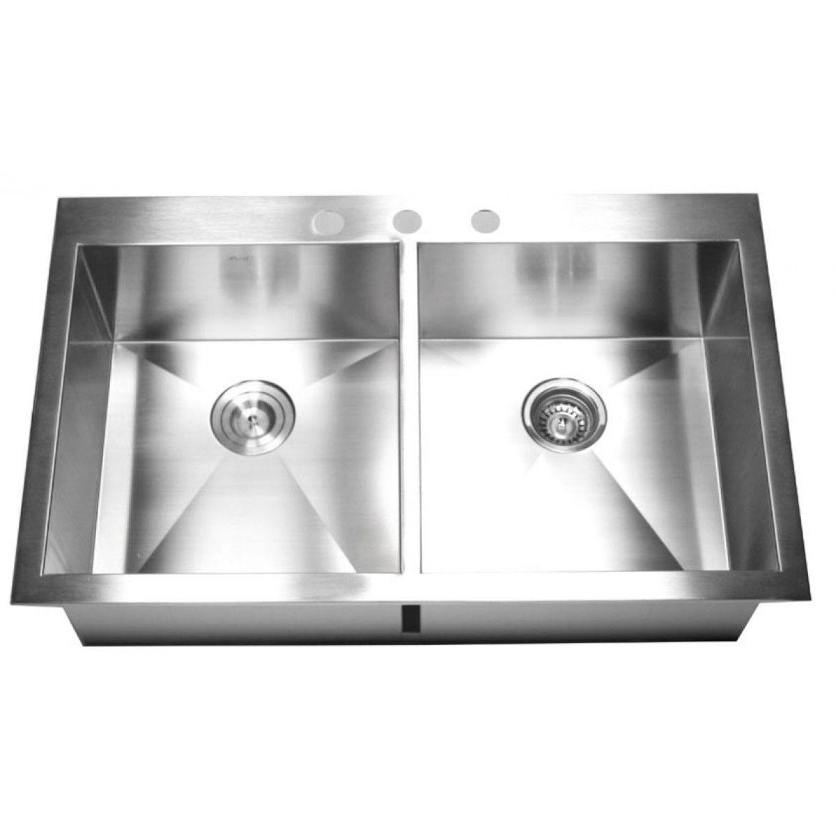 Stainless Steel Kitchen Sinks Top Mount Double Bowl | http://yonkou ...