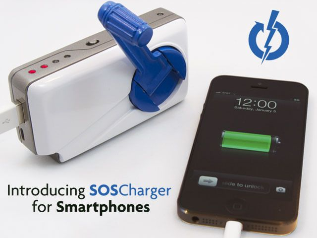 soscharger self powered iphone smart phone charger by sos ready rh pinterest com USB Portable Charger C USB Charger