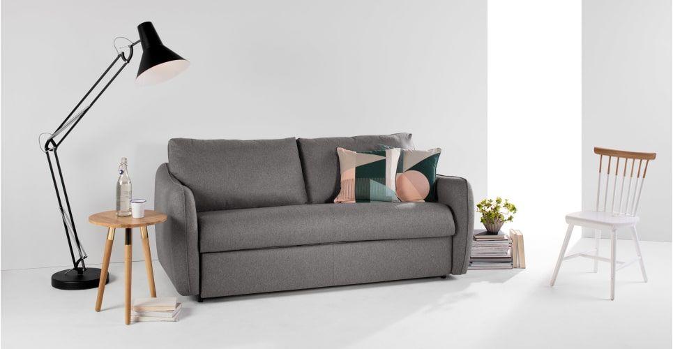 Jefferson Large Sofa Bed, Tweed Grey | made.com