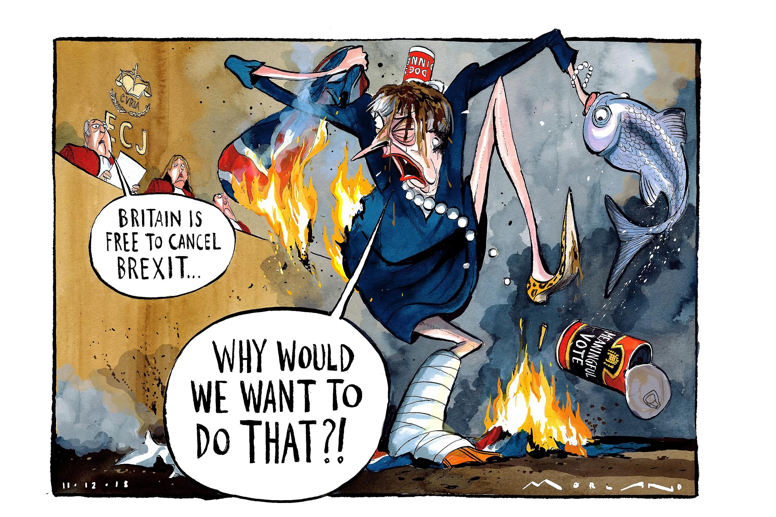 Times Cartoon Cancel Brexit Political Satire Cartoon Uk Politics