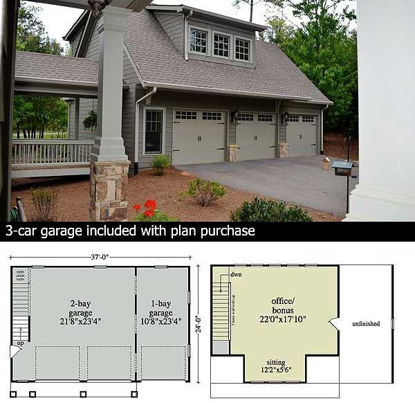 Plan 29826RL: Mountain Home Plan With Garage And Bonus